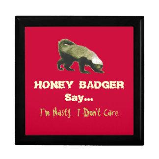 Nasty Honey Badger Ceramic Gift Box
