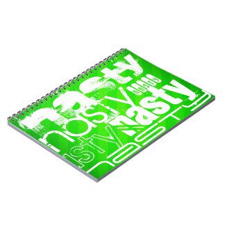 Nasty; Neon Green Stripes Notebook