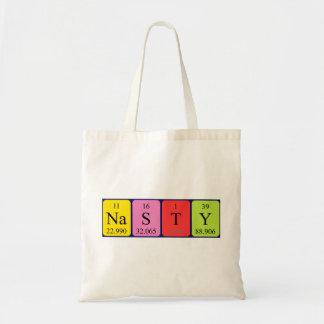 Nasty periodic table name tote bag