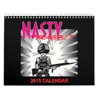 NASTY RABBIT 2015 Calendar