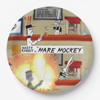 """Nasty Rabbit in """"Hare Hockey"""" snack bar scene Paper Plate"""