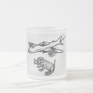 """Nasty Rabbit in: """"Whisker Sour"""" Frosted Glass Coffee Mug"""