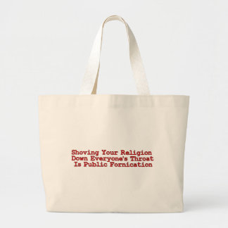 Nasty Religion Pushers Large Tote Bag
