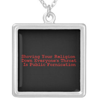 Nasty Religion Pushers Silver Plated Necklace