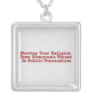 Nasty Religion Pushers Square Pendant Necklace