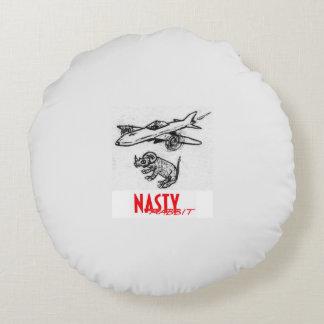Nasty Rhino Drop throw pillow Round Pillow