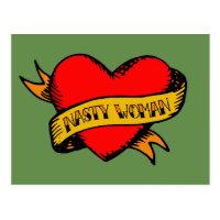 Nasty Woman Tattoo Postcard