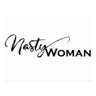 Nasty women elegant items postcard