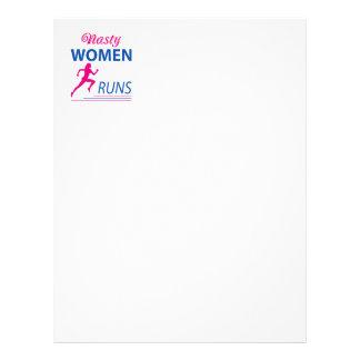 Nasty women runs letterhead