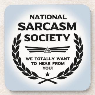 Nat' Sarc' Soc' -Hear Beverage Coaster