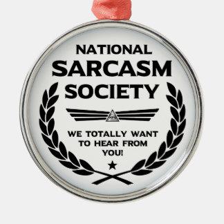 Nat' Sarc' Soc' -Hear Metal Ornament