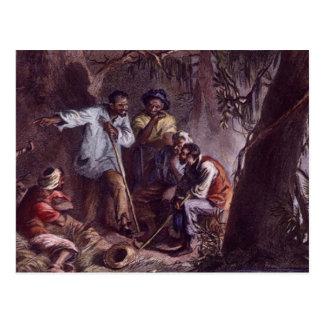 nat turner slave rebellion postcard