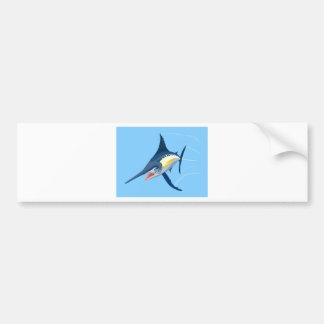 Natación de la aguja azul pegatina de parachoque