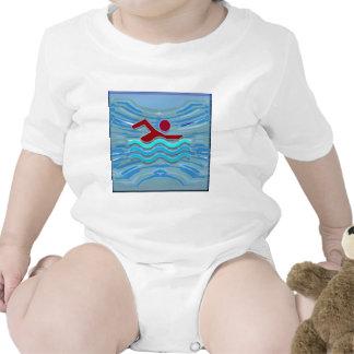 Natación de la aptitud NVN254 del ejercicio del Trajes De Bebé