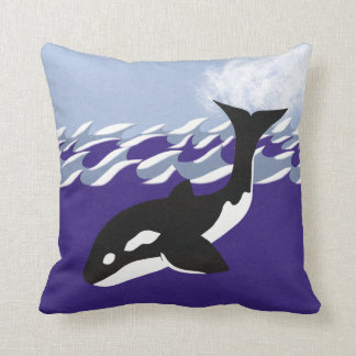 Natación de la ballena en el arte caprichoso del d cojines