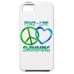 NATACIÓN del amor de la paz iPhone 5 Case-Mate Cobertura