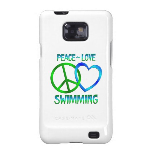 NATACIÓN del amor de la paz Galaxy SII Fundas