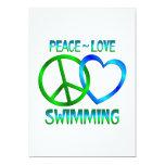 NATACIÓN del amor de la paz Invitación 12,7 X 17,8 Cm