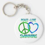 NATACIÓN del amor de la paz Llaveros Personalizados