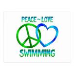 NATACIÓN del amor de la paz Postal