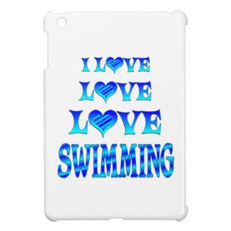 Natación del amor del amor iPad mini coberturas