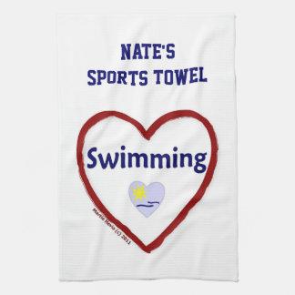 Natación del amor - toalla de los deportes (person