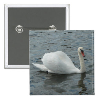 Natación del cisne pin cuadrada 5 cm