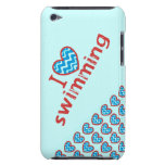 Natación del corazón I (amor) iPod Touch Case-Mate Cárcasas