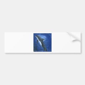 Natación del delfín pegatina para auto