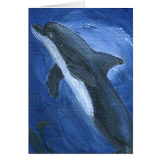 Natación del delfín tarjeta