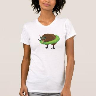 Natación del kiwi (mujeres) camiseta