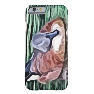 Natación del pato en la pintura del agua funda de iPhone 6 barely there