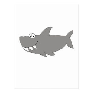 Natación del tiburón del dibujo animado postal