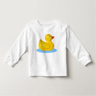 Natación Ducky de goma amarilla linda del pato del Playera De Bebé