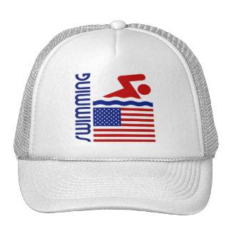 Natación Estados Unidos Gorras