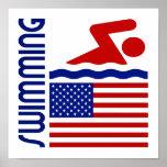 Natación Estados Unidos Posters