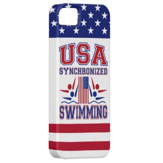 Natación sincronizada de los E.E.U.U. iPhone 5 Carcasas