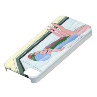 Natación sincronizada iPhone 5 carcasa
