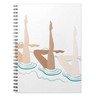Natación sincronizada spiral notebook