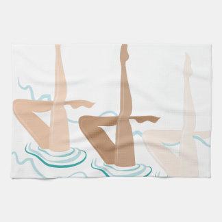 Natación sincronizada toallas de cocina