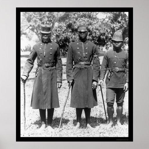 Natal Africa Policemen 1902 Print