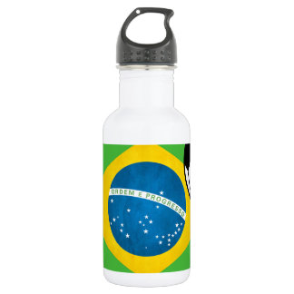 Natal Brazilian Flag 18oz Water Bottle