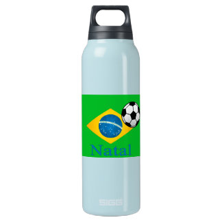 Natal Brazilian Flag 16 Oz Insulated SIGG Thermos Water Bottle