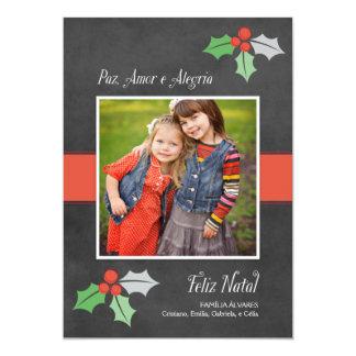 Natal Cartão Fotográfico | Paz Amor e Alegria Card