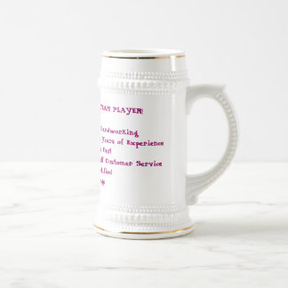 NATALEE Z  - ONE GREAT TEAM PLAYER!* Reliable, ... Beer Stein
