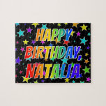 "[ Thumbnail: ""Natalia"" First Name, Fun ""Happy Birthday"" Jigsaw Puzzle ]"