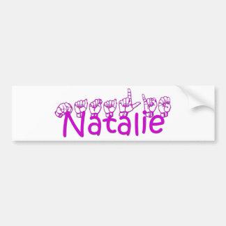 Natalie Bumper Sticker