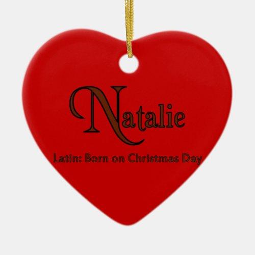 Natalie Ceramic Ornament