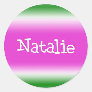 Natalie Classic Round Sticker