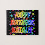 "[ Thumbnail: ""Natalie"" First Name, Fun ""Happy Birthday"" Jigsaw Puzzle ]"
